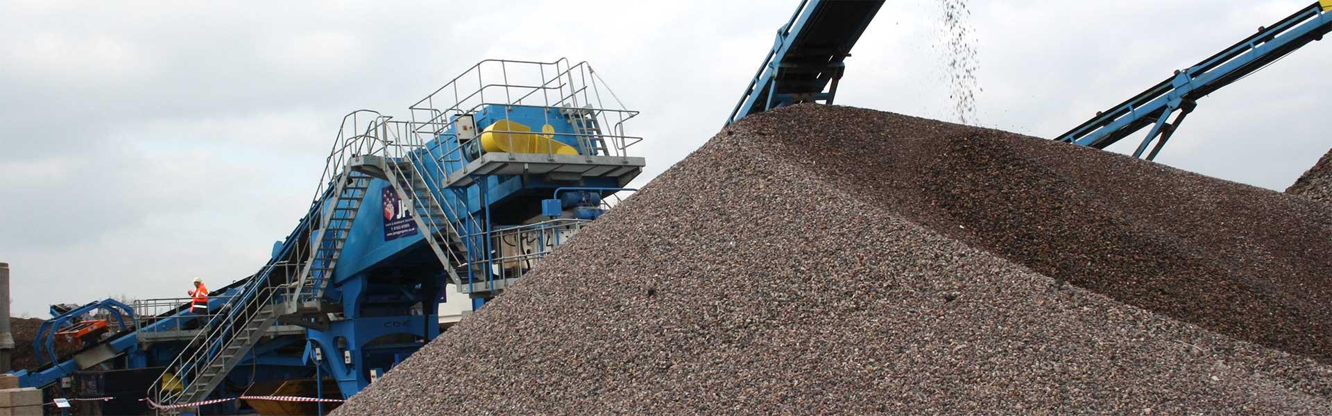 aggregate pile