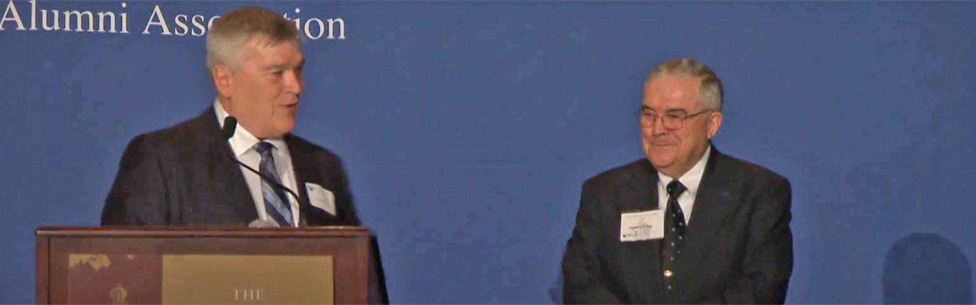 Delbert Day and President Barron
