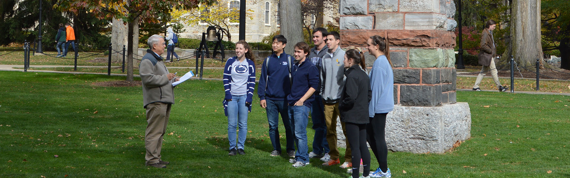 Students by Obelisk
