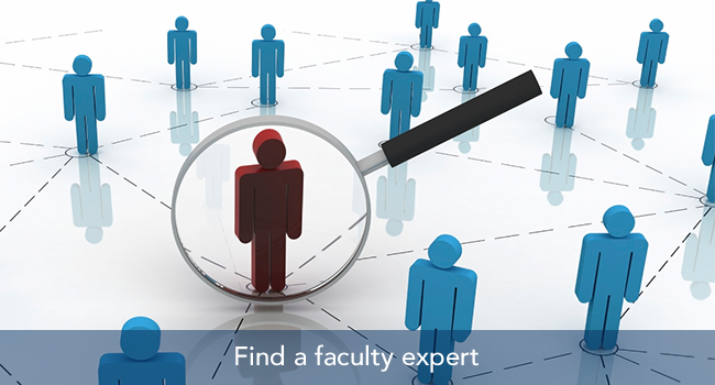 Find faculty expert