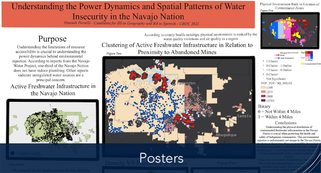 Hannah's poster of Understanding the Power Dynamics and Spatial Patterns of Water Insecurity in the Navajo Nation