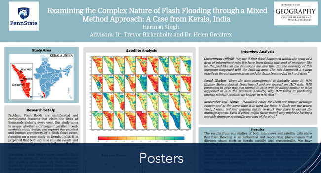 Harman's poster of Examining the Complex Nature of Flash Flooding through a Mixed Method Approach: A Case from Kerala, India