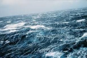 Ocean with white caps