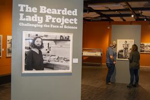 'The Bearded Lady Project' exhibit in Earth and Mineral Sciences Museum & Art Gallery reexamines faces of science.