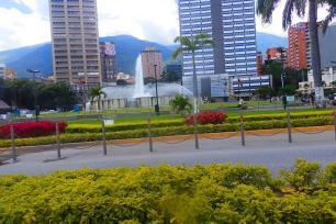 View of the Plaza Venezuela in Caracas, Venezuela