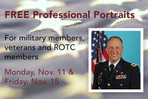 The College of Earth and Mineral Sciences is offering free professional portraits for military members, veterans and ROTC