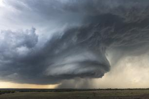 A supercell thunderstorm formed near Hico, Texas