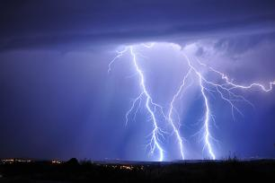 Thunderquakes can be detected using underground fiber-optic-cable networks
