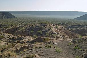 Kilbourne Hole volcanic crater in New Mexico