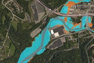 The Pennsylvania Flood Risk Assessment Tool provides users with data on flood hazard zones and data layers