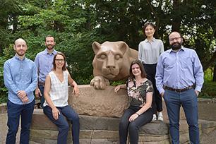 New geography faculty: Luke Trusel, Trevor Birkenholtz, Emily Rosenman, Helen Greatrex, Manzhu Yu, and Panagiotis Giannakis