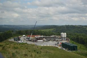 A Marcellus Shale well site in Pennsylvania