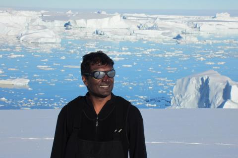 Geoscientist Sridhar Anandakrishnan in Antarctica