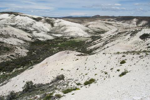 The Laguna del Hunco fossil site in Chubut, Patagonian Argentina.