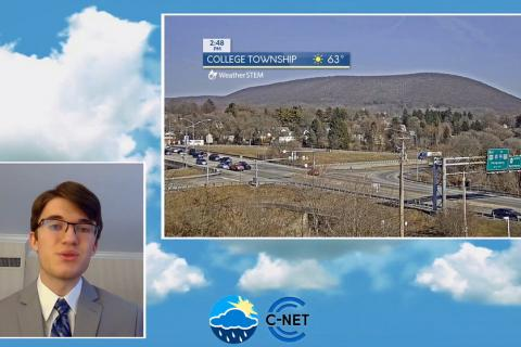 Chris Tate, a senior majoring in meteorology and atmospheric science and president of Campus Weather Service