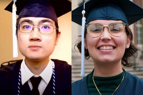 Mingsong Chen has been selected as the student marshal and Madeline Vailhe has been selected as the engineering honor marshal