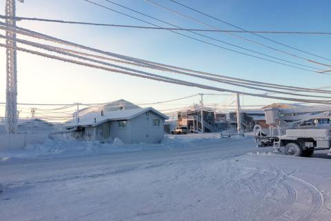 Much of the infrastructure in Utqiaġvik, Alaska, formerly known as Barrow, is degrading due to thawing permafrost