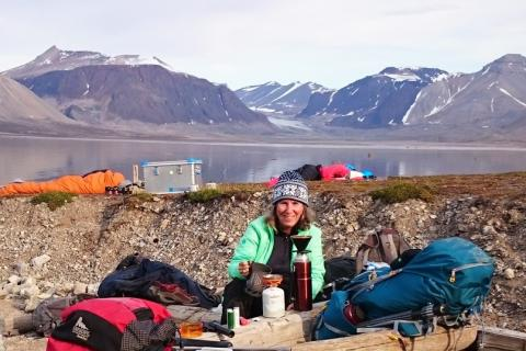 Marilyn Fogel at a research site in Svalbard, Norway.