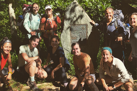 21 female engineering students spent six days backpacking in North Carolina to build resiliency and self-leadership skills