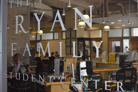The Ryan Family Student Center serves as an advising one-stop shop for undergraduate students in EMS.