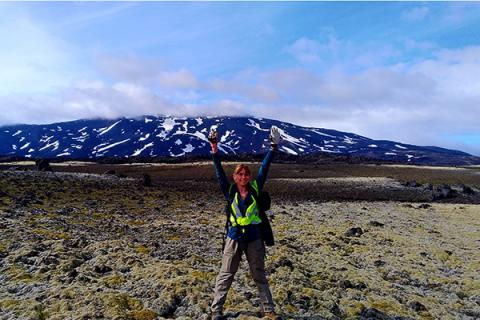 Catherine Hanagan conducted fieldwork in Iceland through funding from a Rodney A. Erickson Discovery Grant.