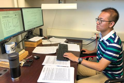 Fengyuan Zhang was awarded the 2019 Nico van Wingen Memorial Graduate Fellowship from the Society of Petroleum Engineers