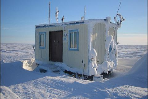 Scientists constructed this monitoring station in remote Alaska