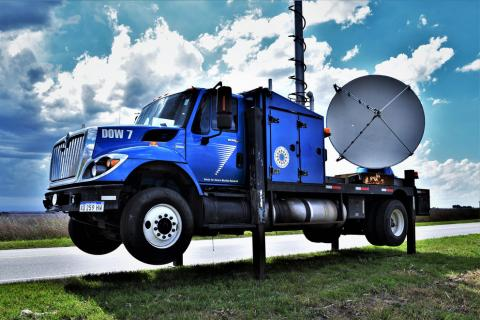 Rachel Gutierrez spent eight weeks on the DOW (Doppler on Wheels) vehicle to study hailstones