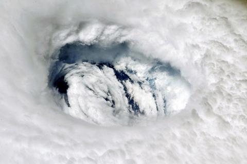 NASA Astronaut Nick Hague captured an image of Hurricane Dorian from the International Space Station