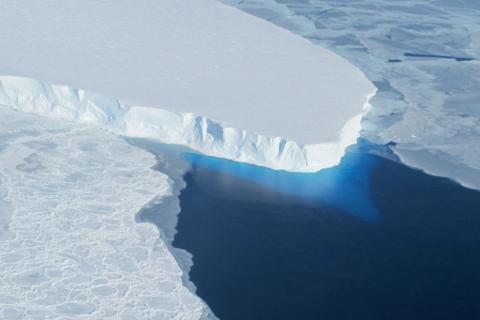 Thwaites Glacier, Antarctica, pictured in 2019