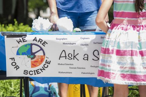 Members of WE ARE for Science hosted an Ask a Scientist booth at the 2019 Central Pennsylvania Festival of the Arts