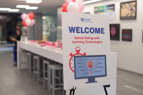 """The John A. Dutton e-Education Institute's first """"Speed Dating with Learning Technologies"""" event was a success"""