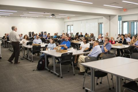Researchers from across Penn State participating in a FEW-focused meeting aimed at building interdisciplinary teams