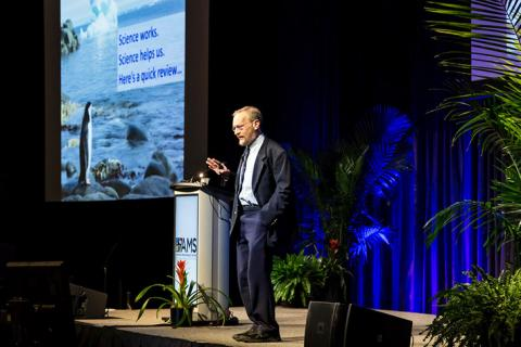 enn State geoscientist Richard Alley urged scientists to communicate science using utility, unity, history and humanity.