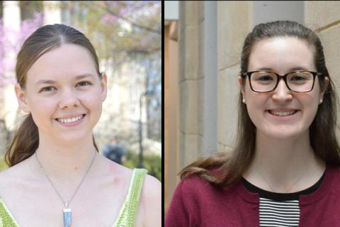 Nicole Kirchner and Jennifer Taylor named student marshals at EMS spring 2017 commencement