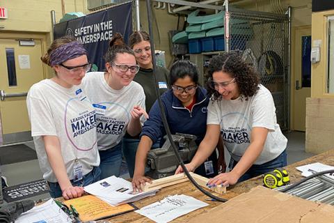 Maker Ambassadors Lauren Onweller, Lauren Matuszkiewicz, Monica Abdelmalek during a recent event