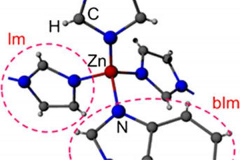 The structure of ZIF-62, ( zinc imidazolate,benzimidazolate)