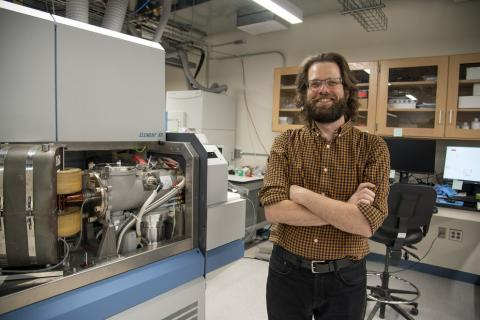 Joshua Garber, a postdoctoral scholar at Penn State, is the manager of the geochronology lab