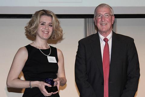 Chiara Lo Prete honored by Dean Easterling