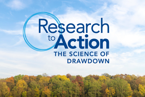 """The conference, titled """"Research to Action: The Science of Drawdown,"""" will occur on Sept. 16-18, 2019."""