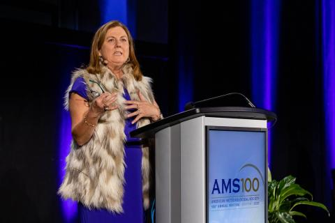 As president, Jenni Evans oversaw the 100th year of American Meteorological Society