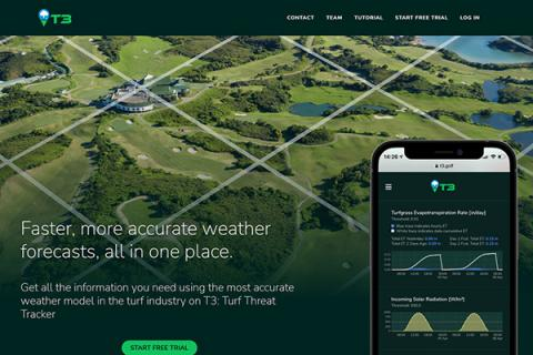 T3: Turf Threat Tracker is an app-based weather modeling tool designed for turf management experts
