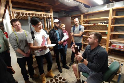 PennTAP advisers and energy engineering students in the College of Earth and Mineral Sciences at Penn State visited BWP Bats.