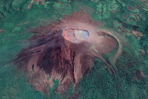 Telica Volcano, a persistently active volcano in western Nicaragua