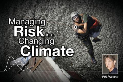 """Poster of the WPSU documentary """"Managing Risk in a Changing Climate"""""""