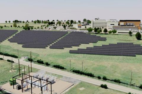 A rendering of the new solar array shows its location along Orchard Road, near the Mount Nittany Medical Center.
