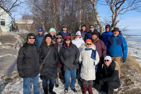 The POLARIS team visited an ecological monitoring site in Bristol Bay in February 2020