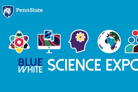 The Penn State Blue-White Science Expo logo