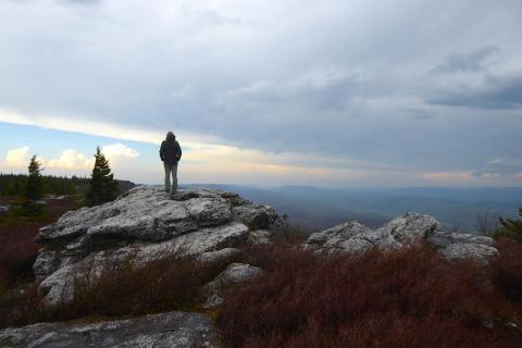 Mike Hermann visits Bear Rocks Preserve at Dolly Sods, Monongahela National Forest, West Virginia