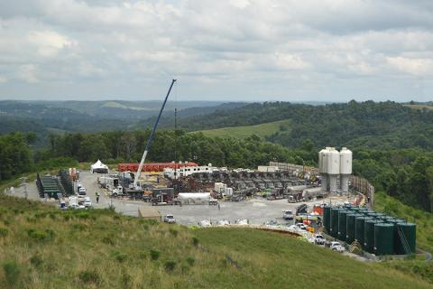 Marcellus Shale drilling site in southwestern Pennsylvania.